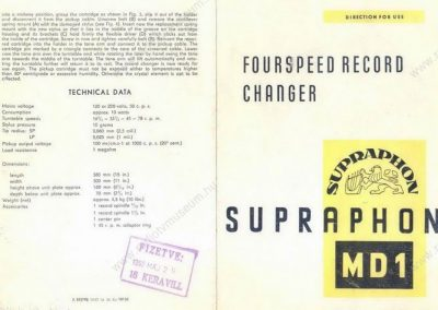 1957 Supraphon Record Changer Turntable MD1 - Supraphon-MD1.le°r†s.jpg