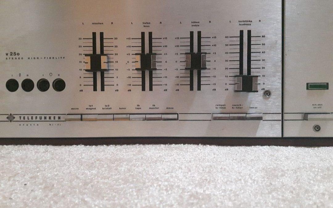 1968 Telefunken Stereo Amplifier Acusta Hi-Fi V250