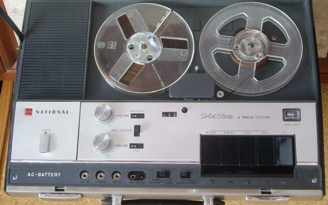 1969 National Solid State  4 Track System Portable Tape Recorder RQ-194S