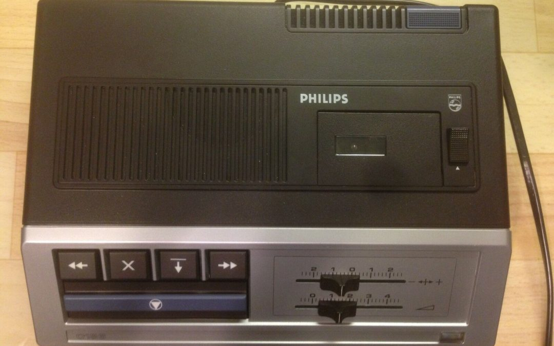1969 Philips Mini-Cassette Transcriber Dictation Machine LFH0186/00