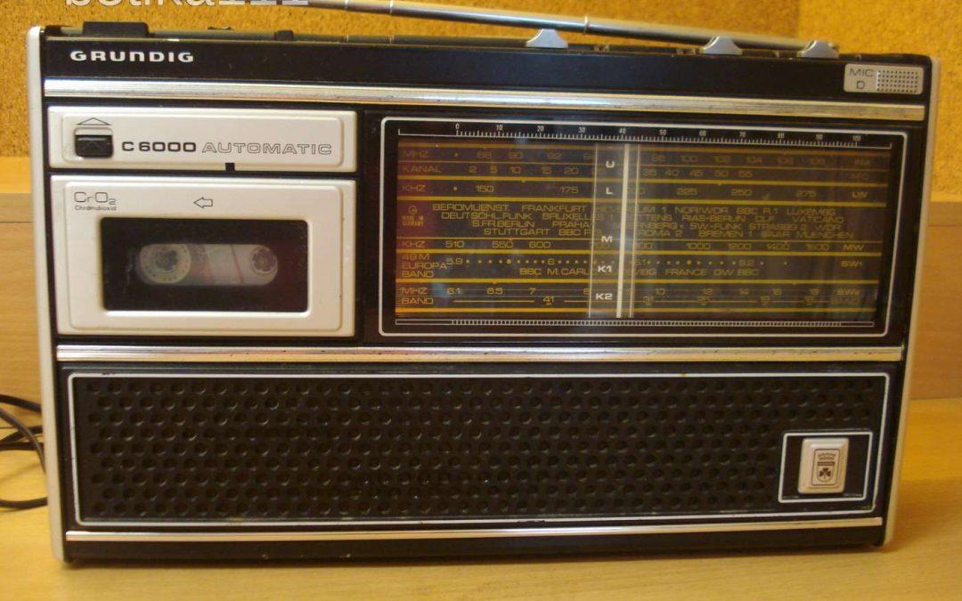 1974 Grundig Radio Automatic Cassette Recorder C 6000