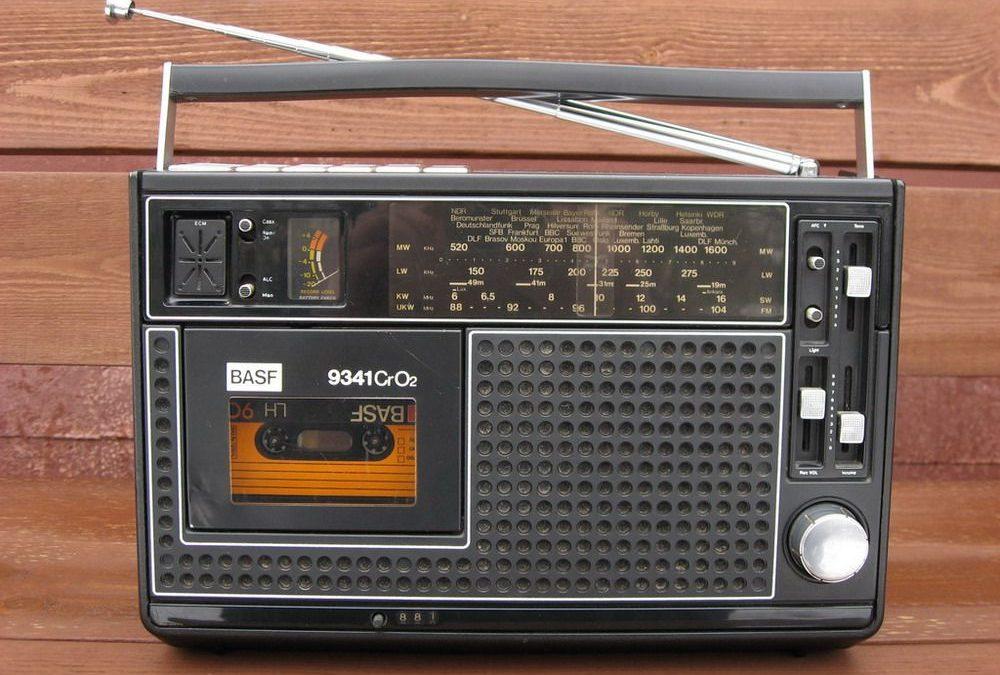 1975 BASF Radio Cassette Recorder CrO2 9341