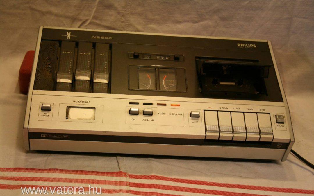 1974 Philips Hi-Fi Stereo Cassette Tape Recorder N2520