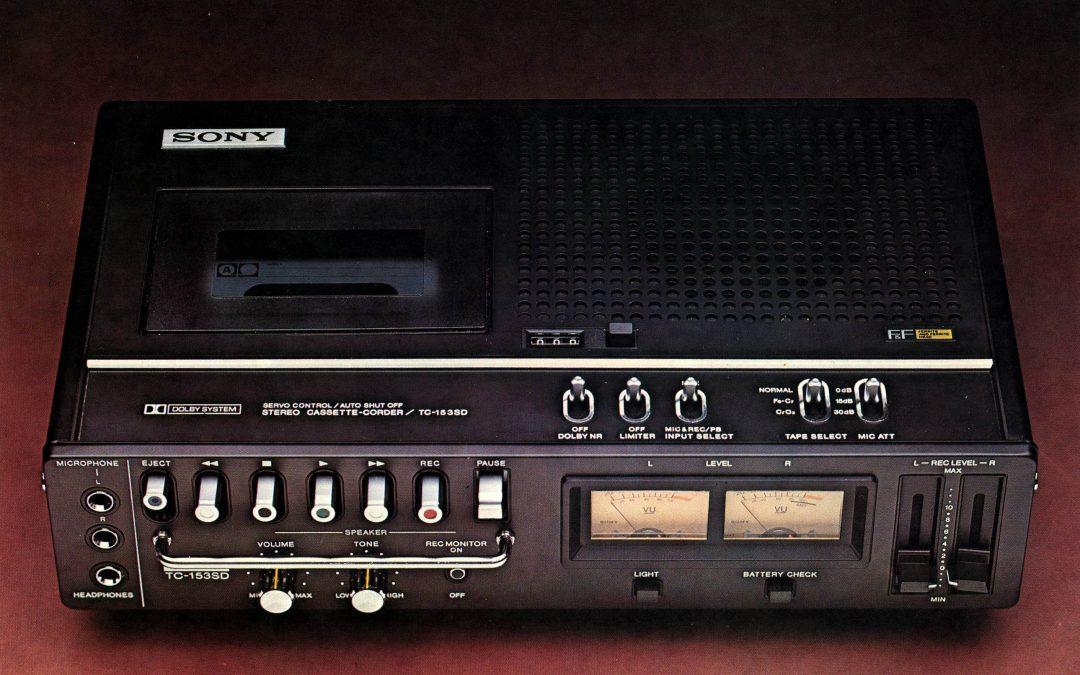 1975 Sony Stereo Cassette-Corder TC-153SD