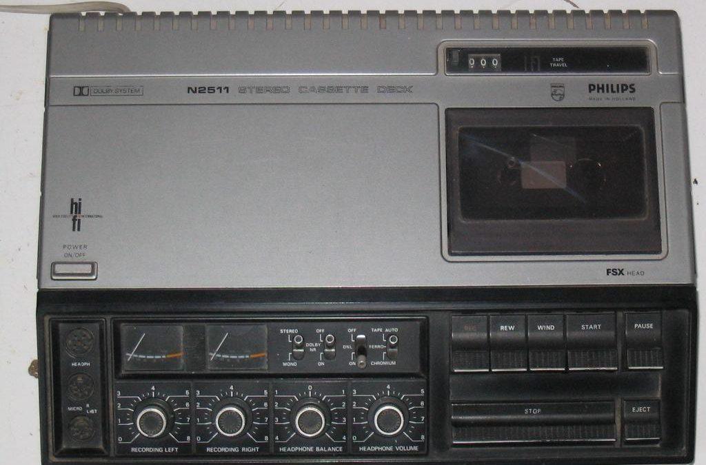 1976 Philips Stereo Cassette Deck N2511
