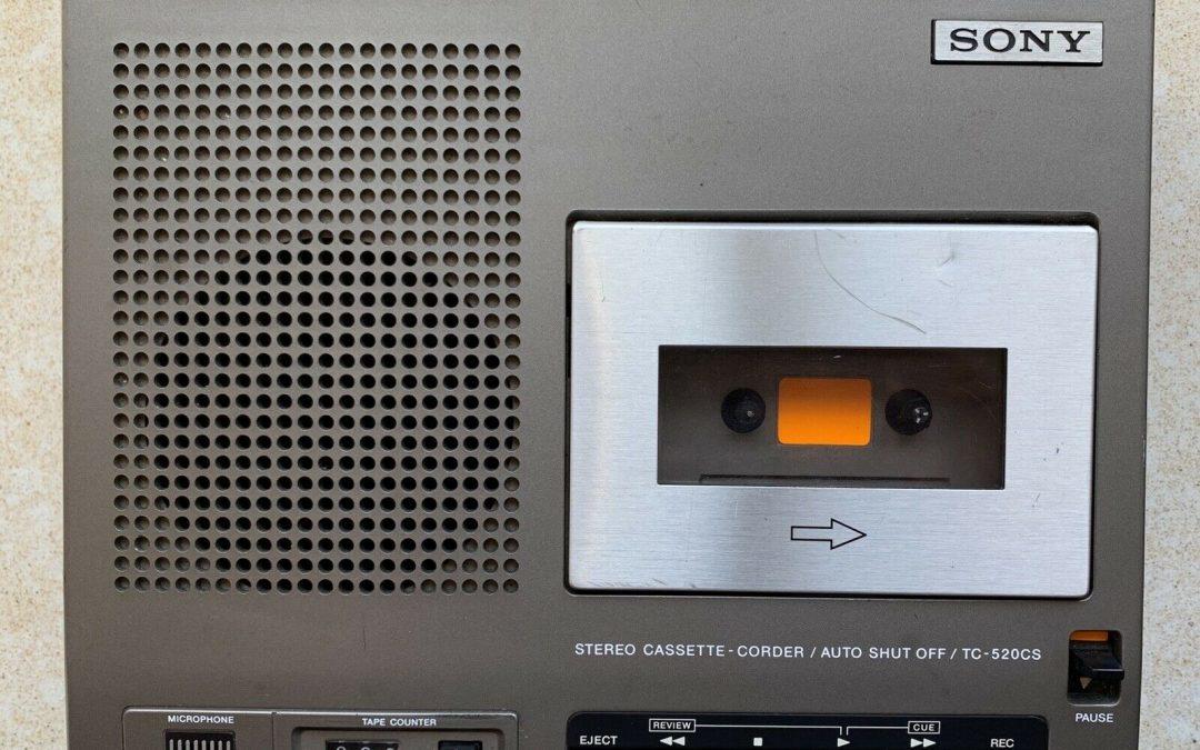 1976 Sony Stereo Cassette-Corder TC-520cs