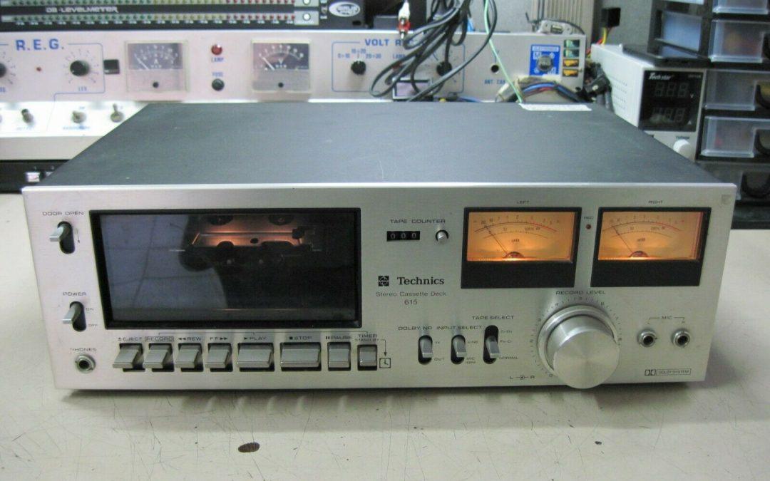 1976 Technics Stereo Cassette Deck RS-615US