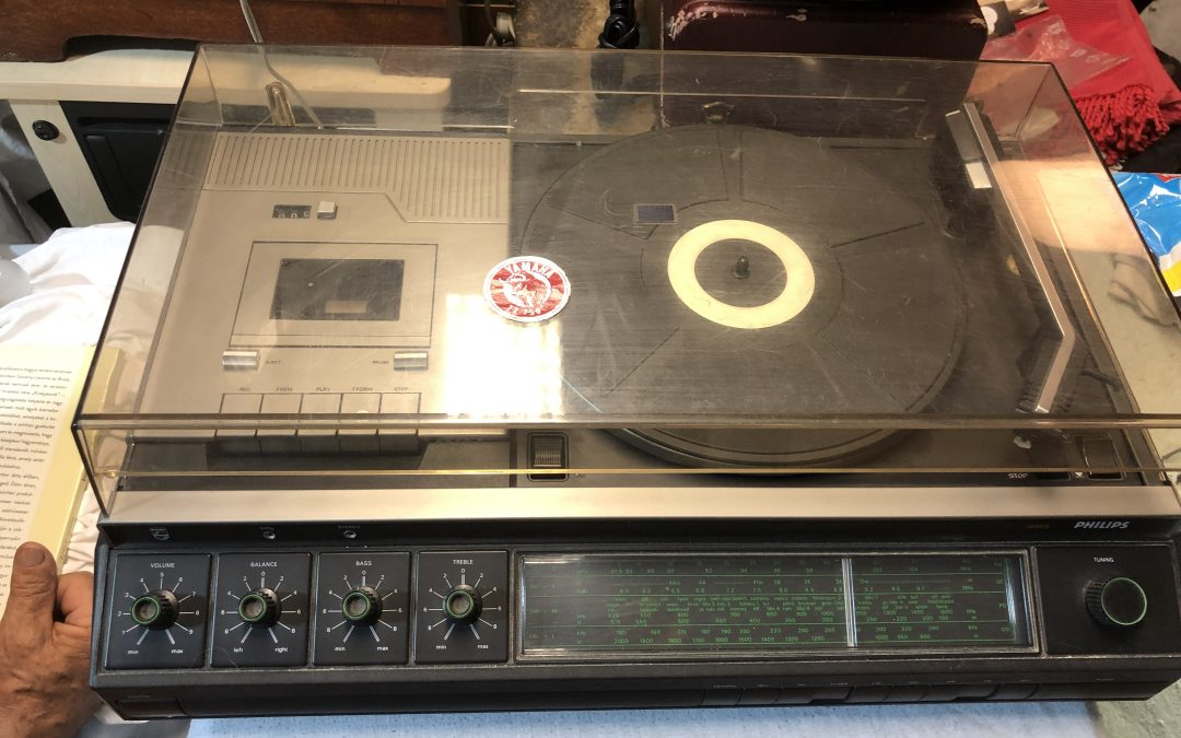 1977 Philips Stereo Cassette Recorder Tuner Record Player 22AH963