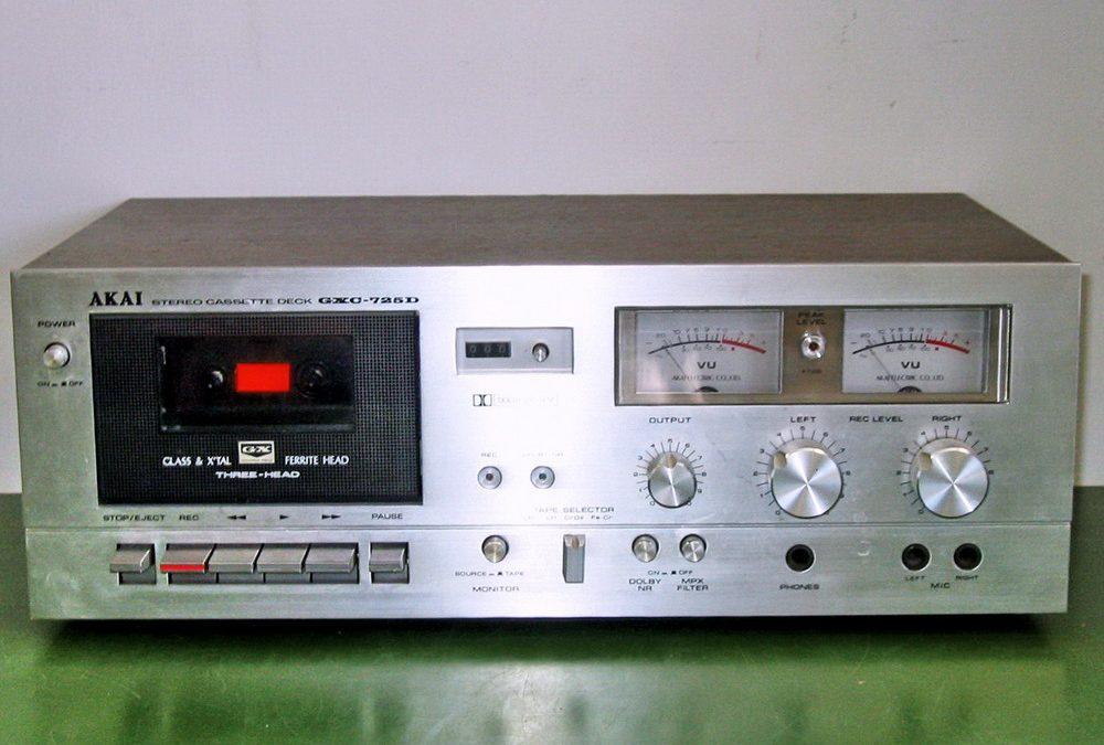 1978 Akai Stereo Cassette Deck GXC-725D