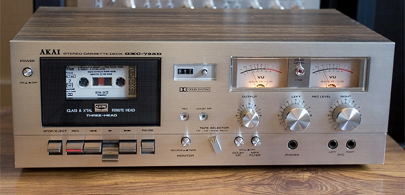 1977 Akai Stereo Cassette Deck GXC-725D