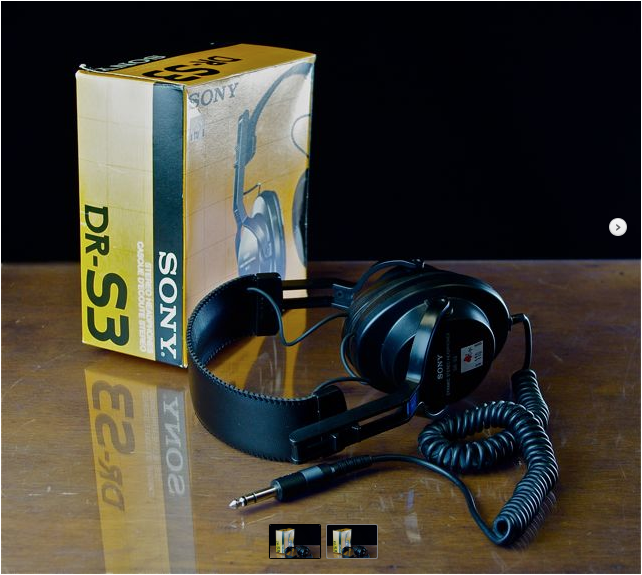 1979 Sony Dynamic Stereo Headphones DR-S3