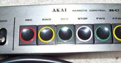 1980 Akai Wired Remote Control Unit Reel to Reel 635D RC-17 - AKAI-RC-17-635D.1.jpg