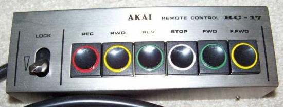 1980 Akai Wired Remote Control Unit Reel to Reel 635D RC-17