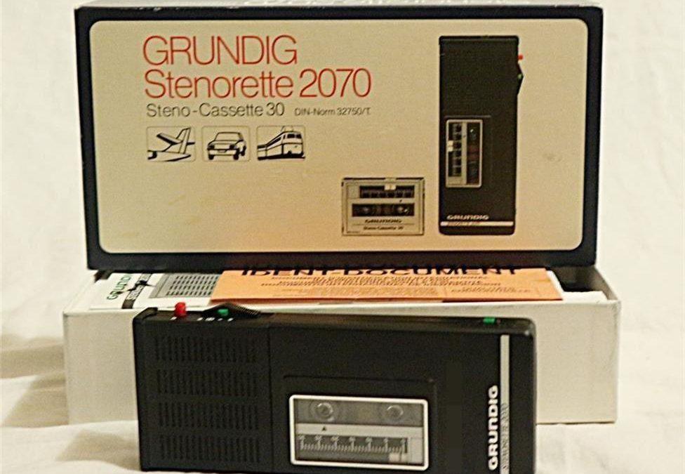 1980 Grundig Diktiergerät Stenorette 2070