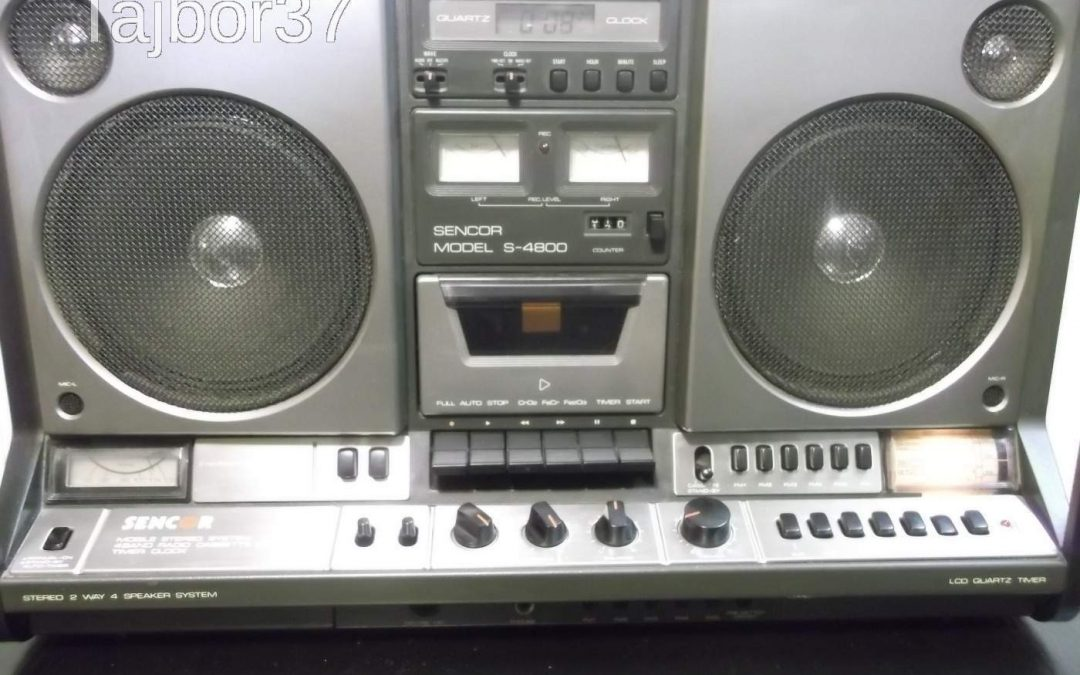 1980 Sencor Mobile Stereo System 4Band Radio Cassette Recorder Model S-4800