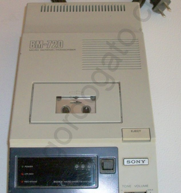 1980 Sony Micro DictatorTranscriber BM-720