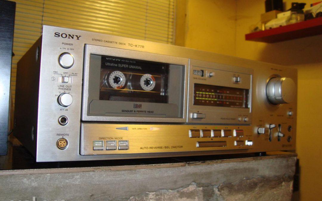 1980 Sony Stereo Cassette Deck TC-K77R