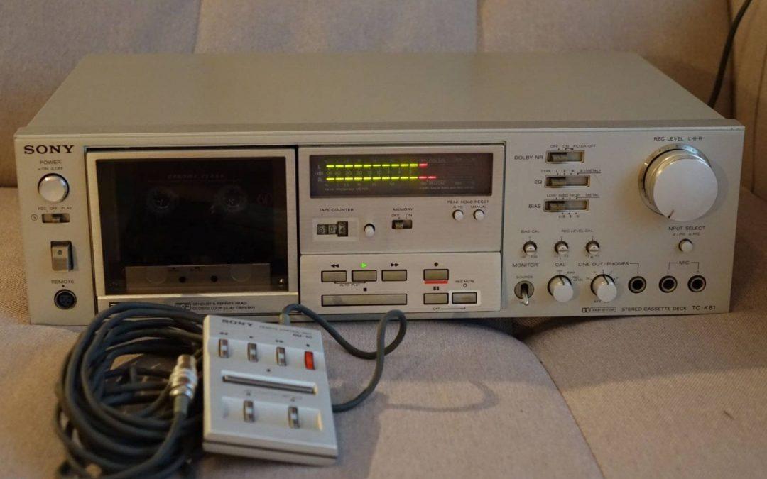 1980 Sony Stereo Cassette Deck TC-K81