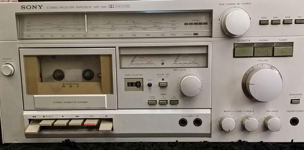 1980 Sony Stereo Receiver TapeDeck HST-300