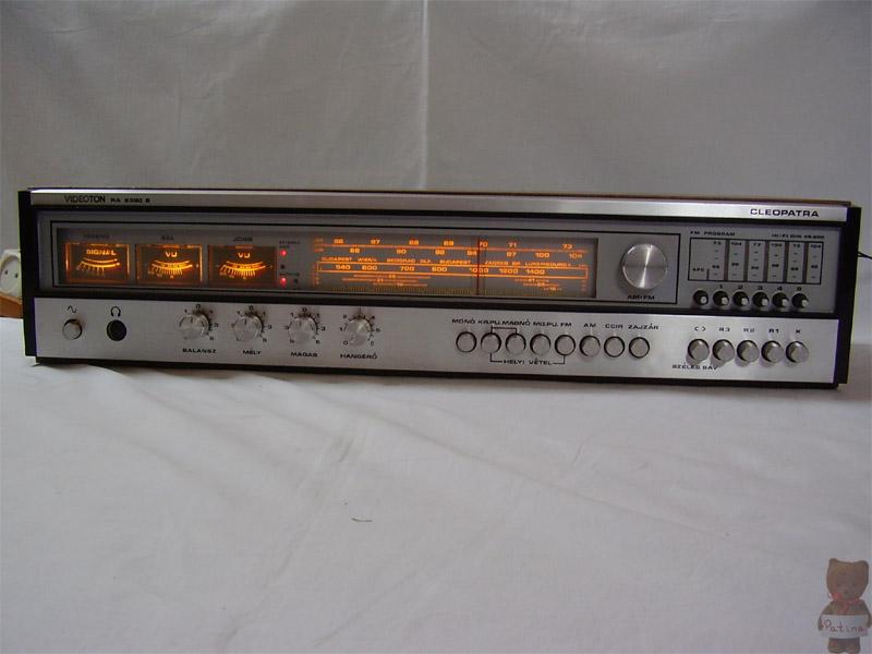 1980 Videoton Hi-Fi Stereo Receiver Cleopatra RA 6380 S