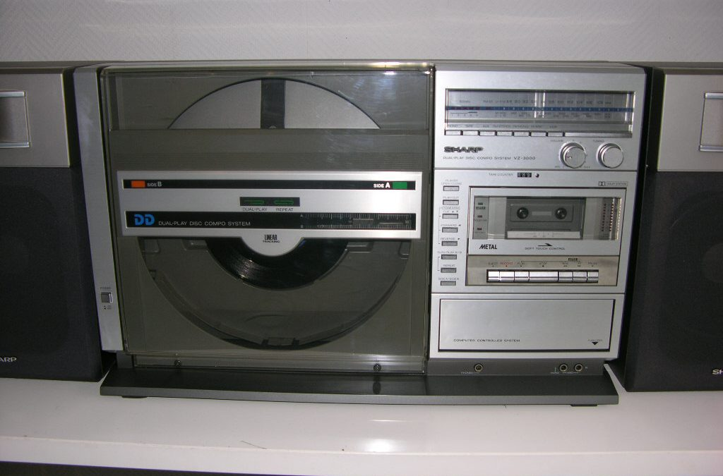 1981 Sharp Both Side Play Disc Compo System VZ-3000
