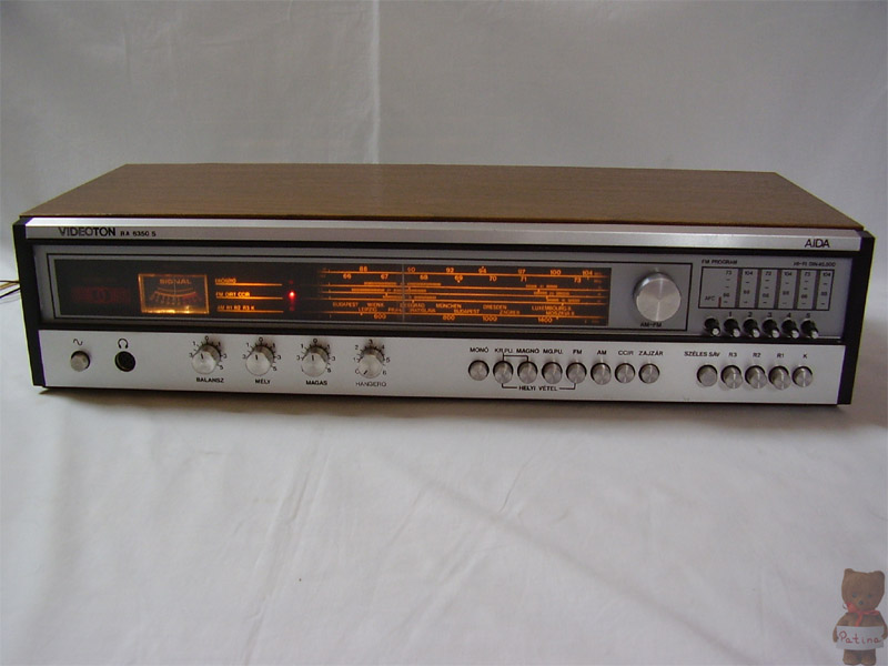 1981 Videoton Hi-Fi Stereo Receiver Aida RA 6350 S