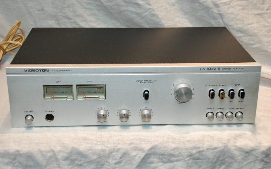 1981 Videoton Stereo Amplifier HiFi Electronics EA 6380-S