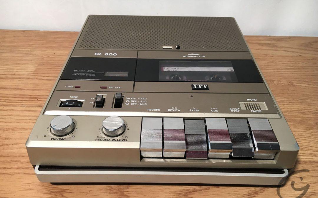 1982 ITT Schaub-Lorenz Cassette Recorder SL 600