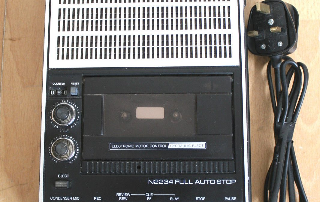 1982 Phillips Cassette Recorder Full Auto Stop N2234