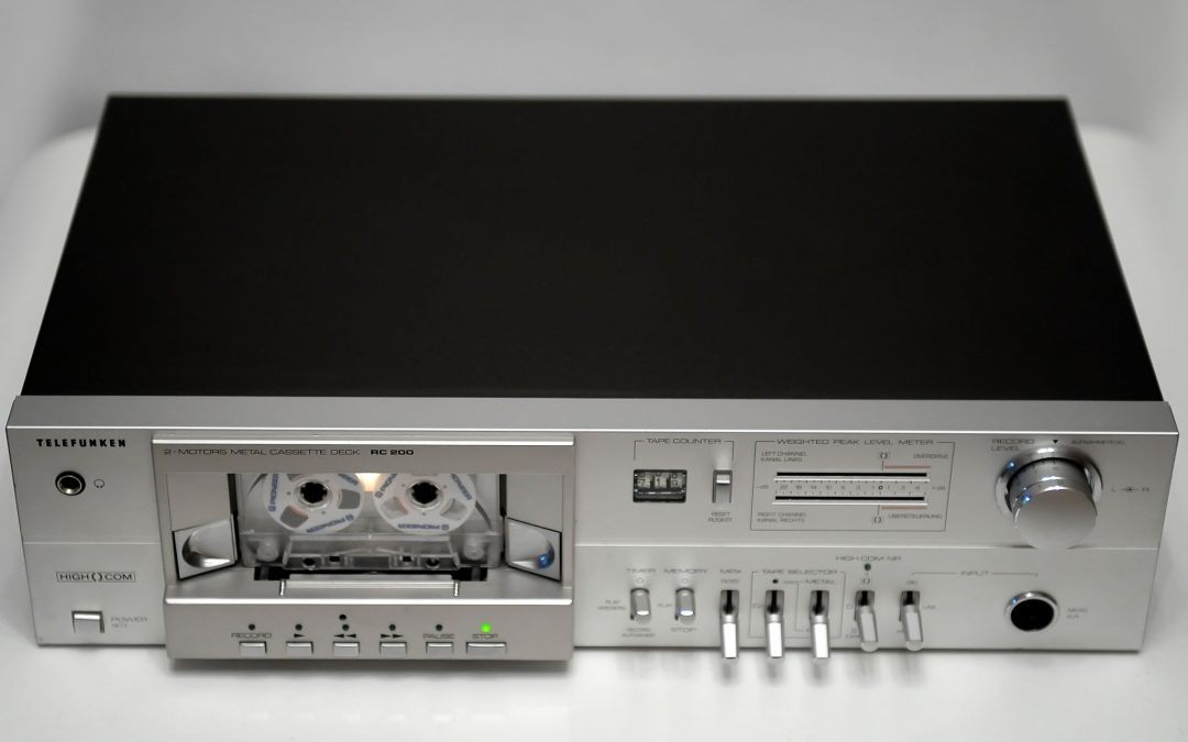 1982 Telefunken 2-motors Metal Cassette Deck RC200