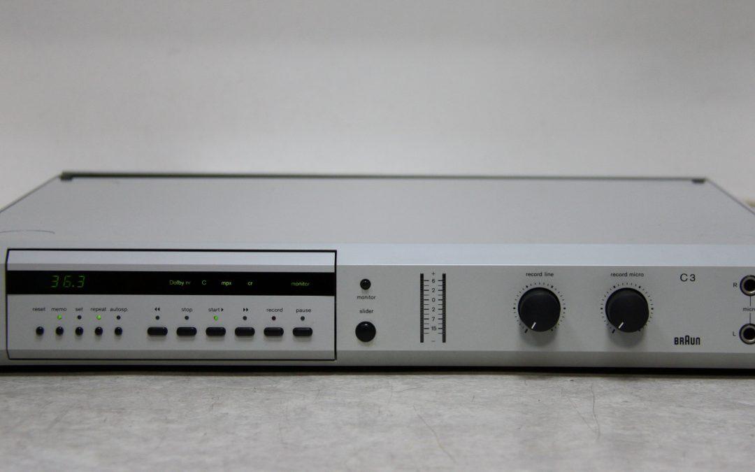 1983 Braun Atelier Stereo Cassette Recorder C3