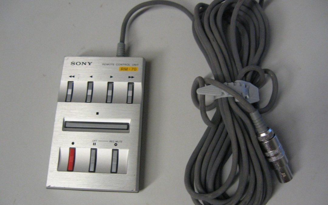 1983 Sony Remote Control Unit RM-70