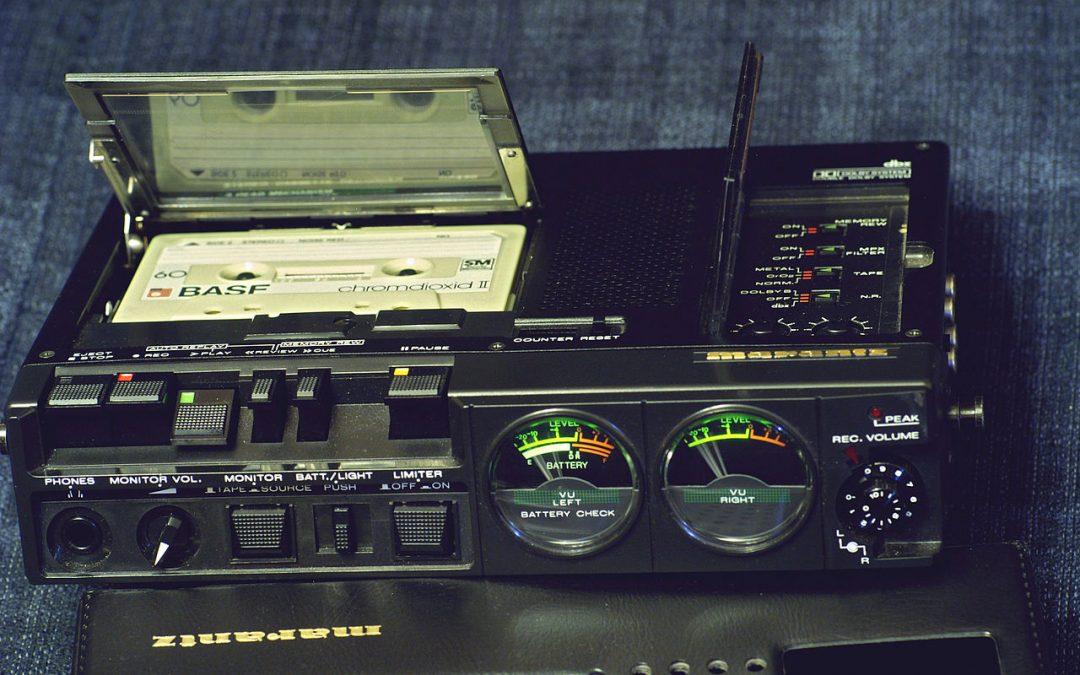 1984 Marantz Portable Stereo Cassette Recorder PMD430