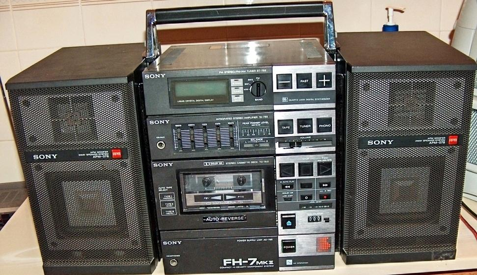 1984 Sony Compact Hi-density Component System FH-7 MK II