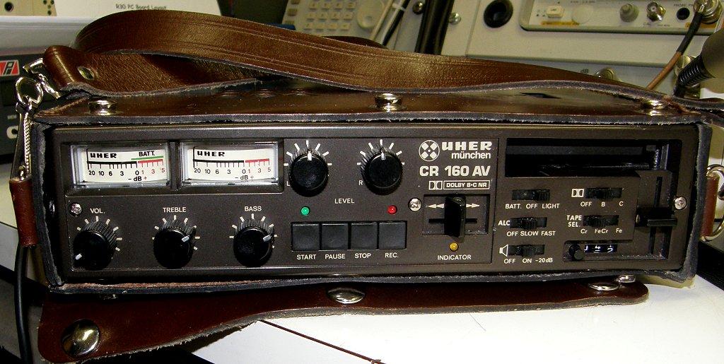 1984 Uher Stereo Cassette Recorder CR 160 AV