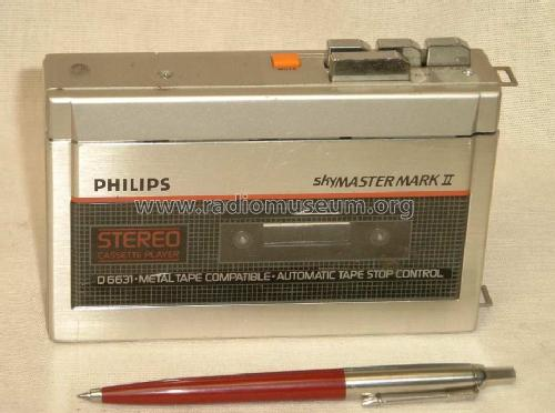 1985 Philips Stereo Cassette Player SkyMaster Mark II D 6631