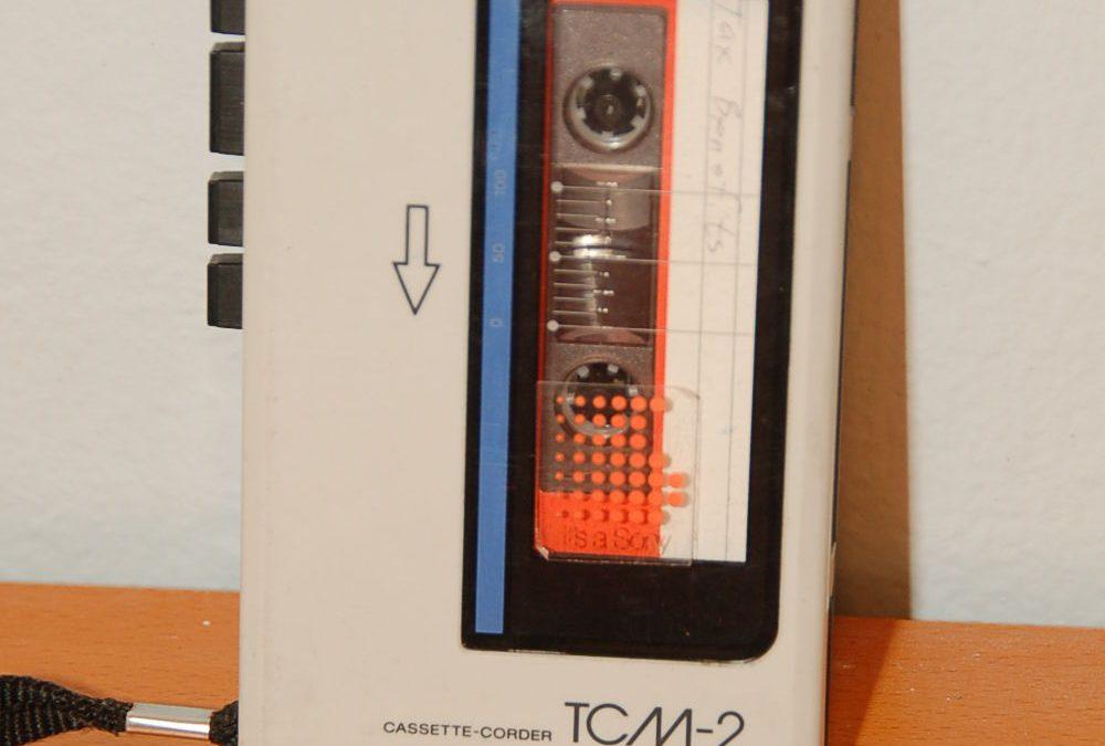 1985 Sony Cassette Corder TCM-2