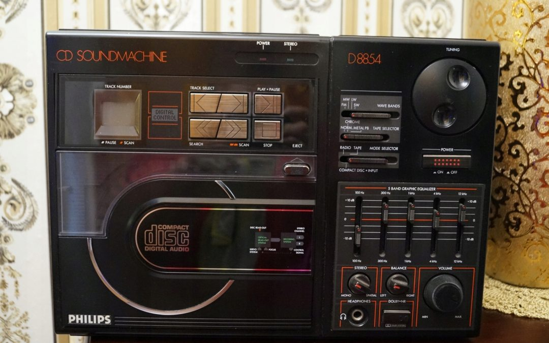 1986 Philips CD Soundmachine Radio Recorder D8854