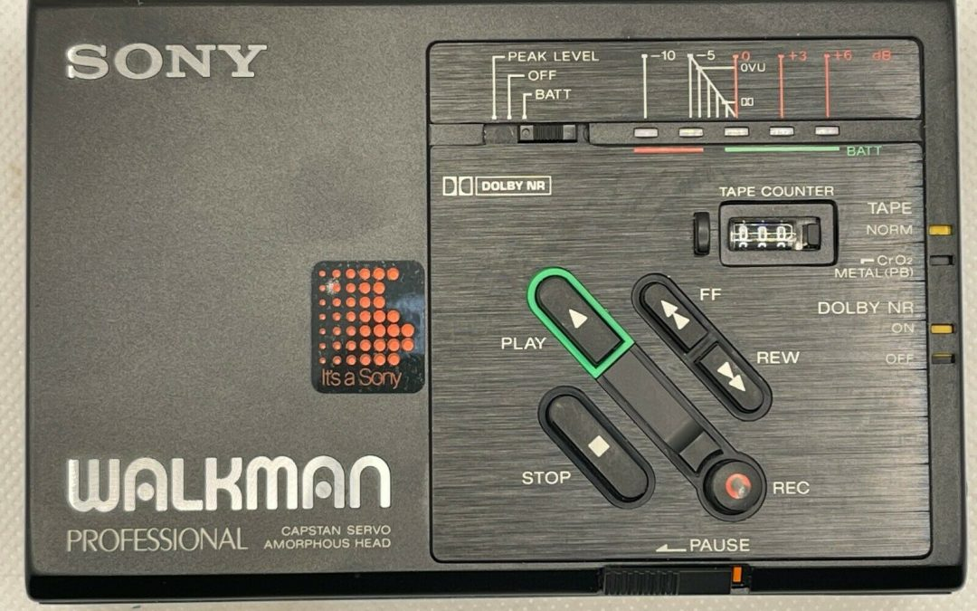 1986 Sony Walkman Professional Stereo Cassette-Corder WM-D3