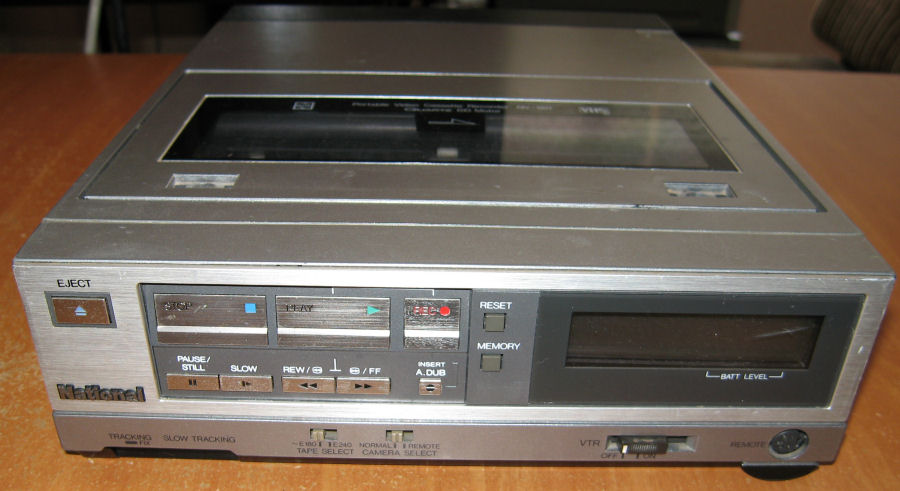 1987 National Portable Video Cassette Recorder NV180