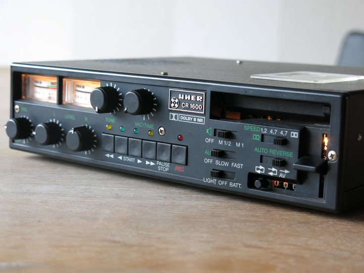 1988 Uher Portable Cassette Recorder CR 1600