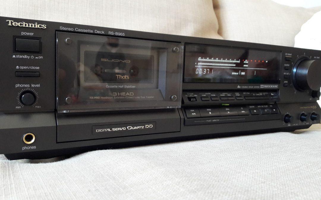 1990 Technics Stereo Cassette Deck RS-B965