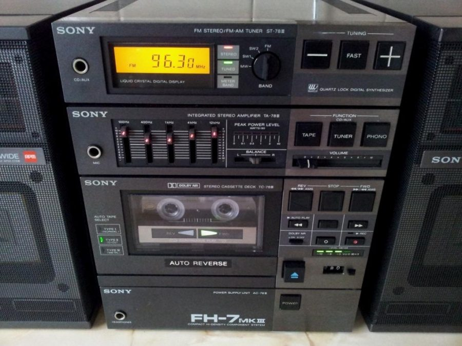 1995 Sony Compact Hi-density Component System FH-7 MK III