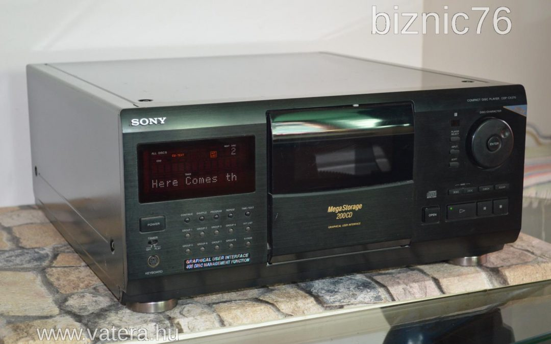 1996 Sony MegaStorage 200 CD Changer CDP-CX270