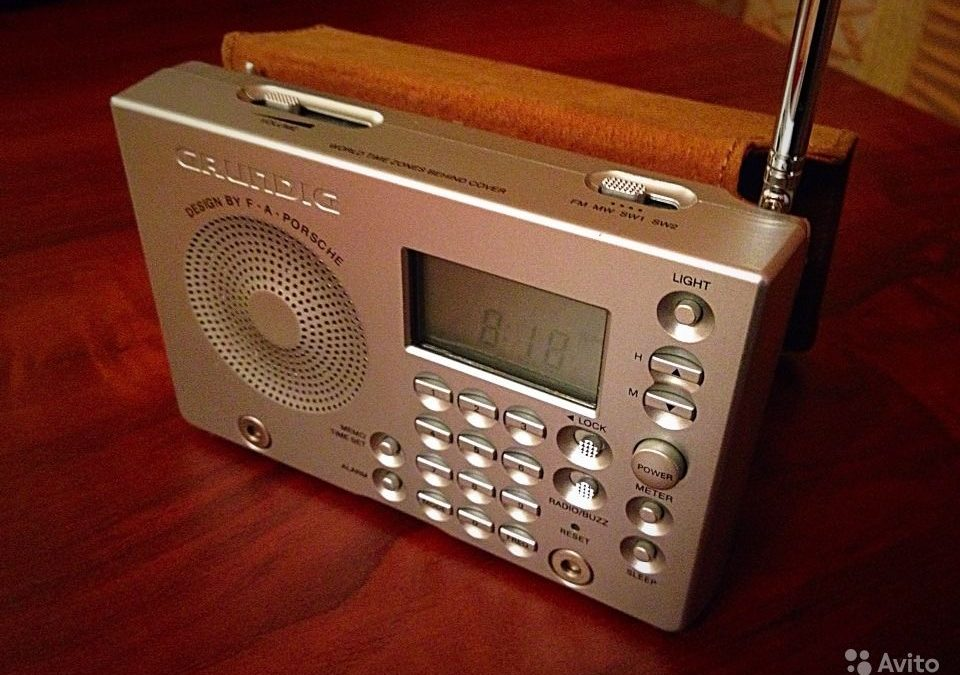 1997 Grundig LCD Clock Radio Yacht Boy 2000 design by Porsche