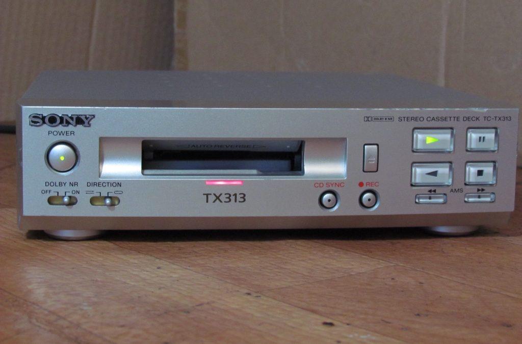 1997 Sony Stereo Cassette Deck TC-TX313