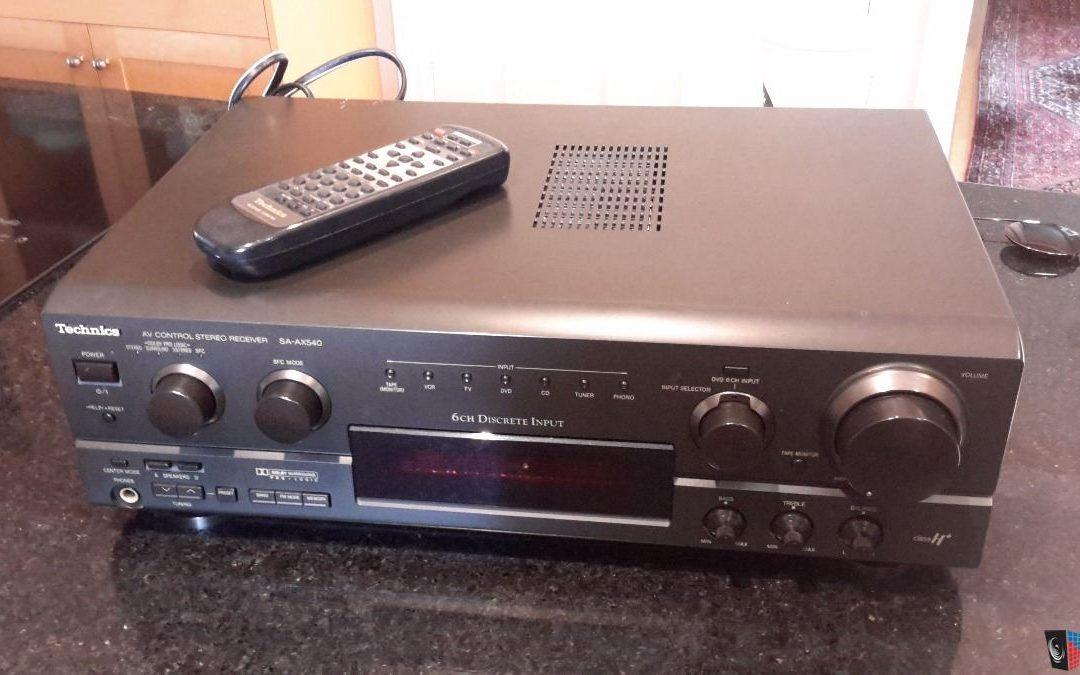 1999 Technics AV Control Stereo Receiver SA-AX540