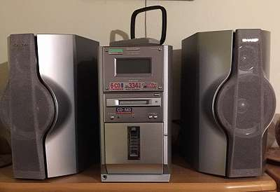 2000 Sharp Audio Tower System CD-MD3000H