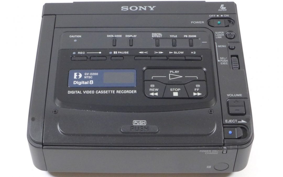 2000 Sony Digital Video Cassette Recorder Digital8 NTSC GV-D200