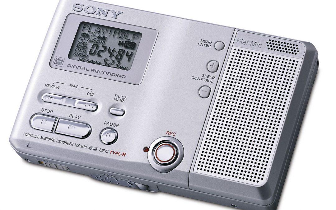 2003 Sony Portable MiniDisc Recorder MZ-B10